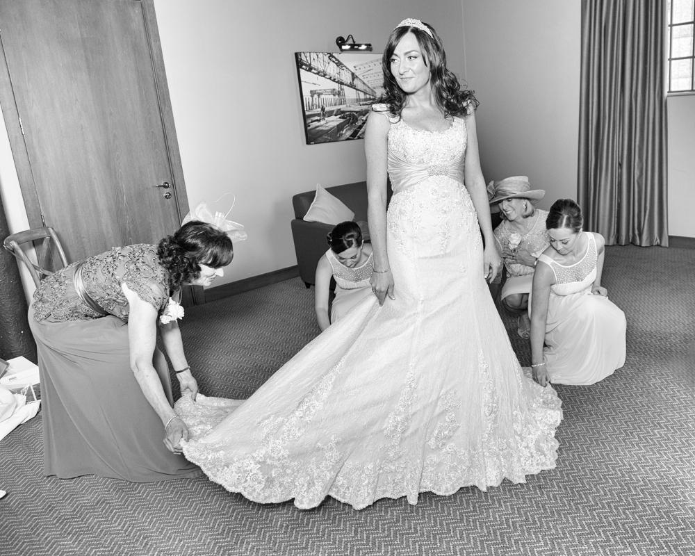 Titanic Hotel Weddingfixing the dress