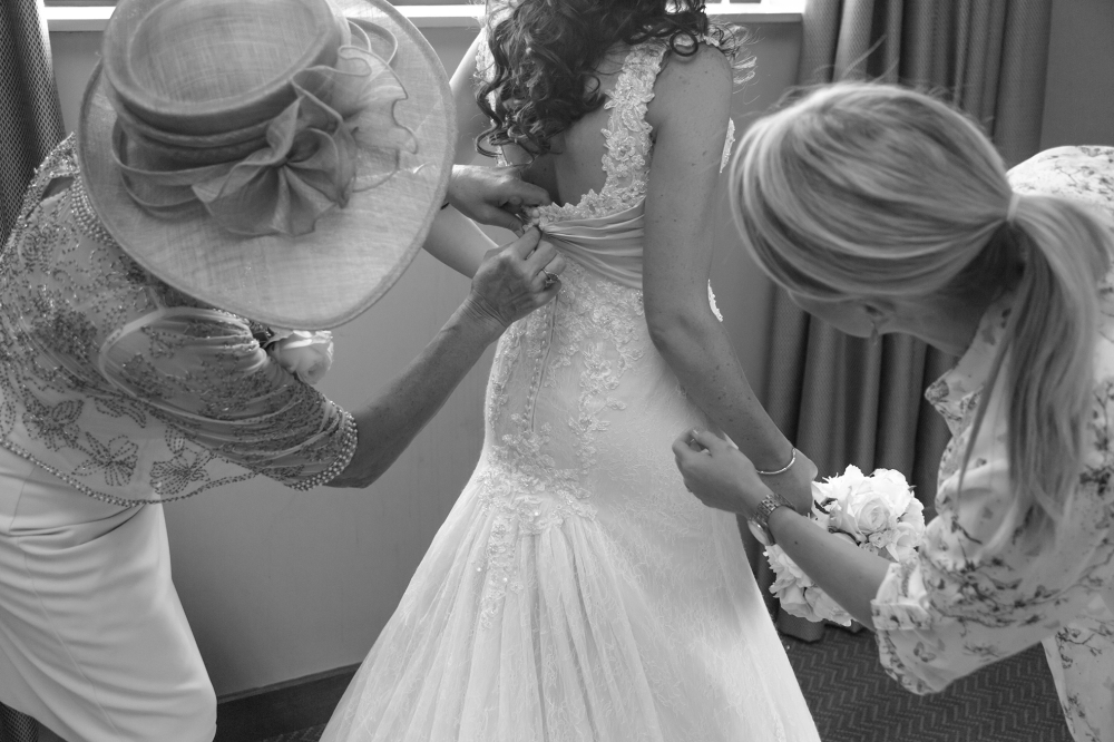 Titanic Hotel Wedding Bride Preperation