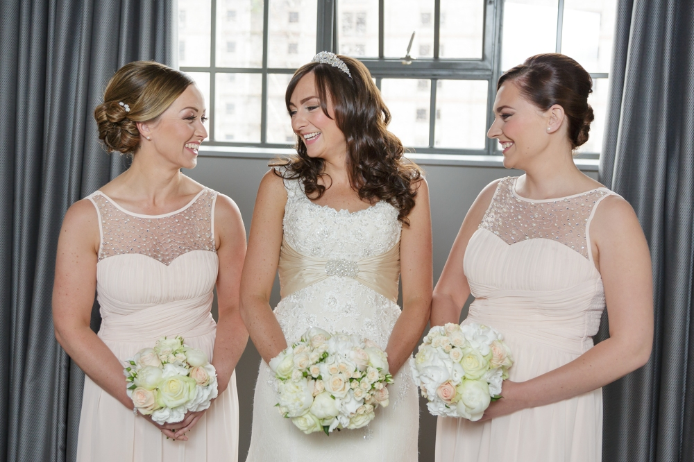 Titanic Hotel Wedding Bride bridesmaids fun