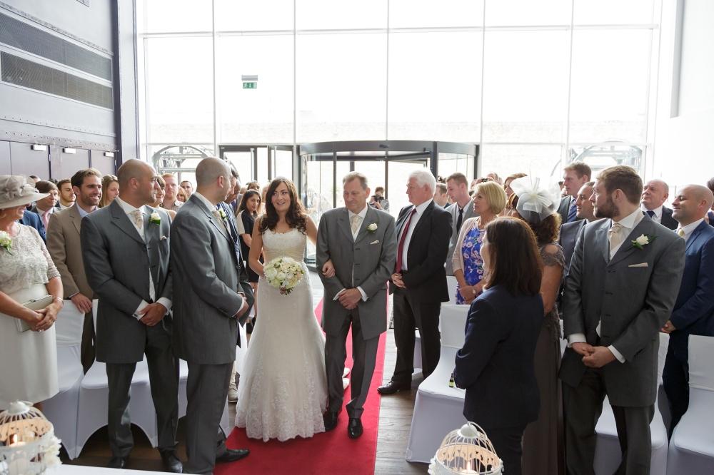 Wedding Ceremony Bride aisle