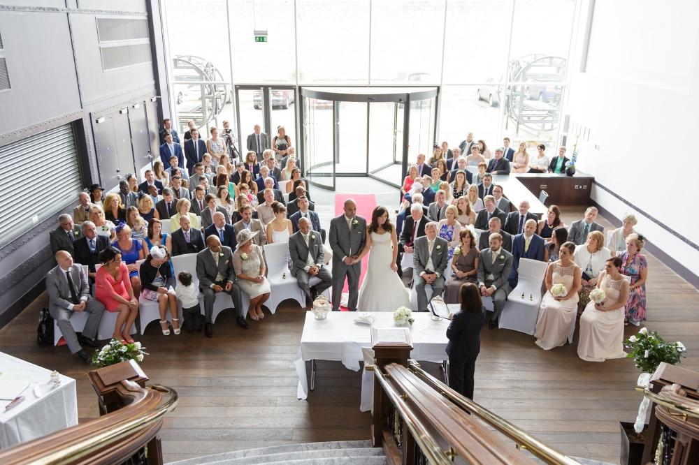 Titanic Hotel Wedding Ceremony