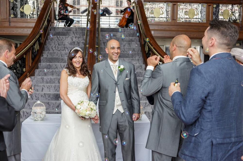 Titanic Hotel Wedding Ceremony  Bubbles
