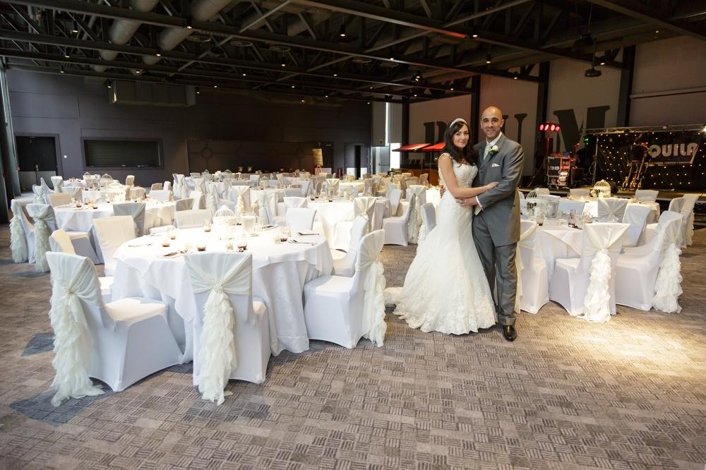 Titanic Hotel Wedding Bride & Groom Reception room