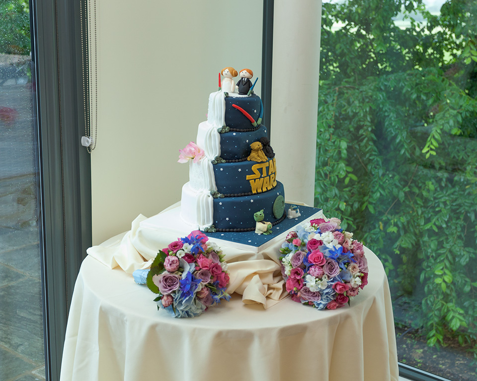 Star Wars Wedding Cake Wedding Reception Room at the West Tower Hotel
