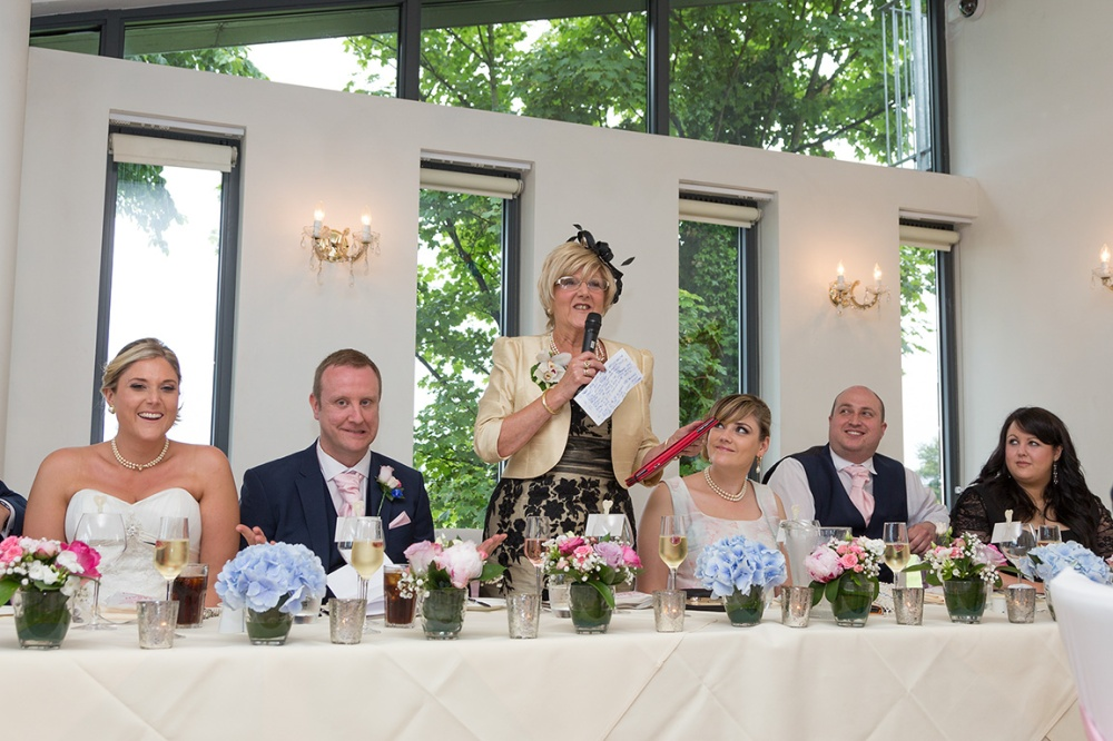 Mums Speech  during wedding at the The West Tower Hotel
