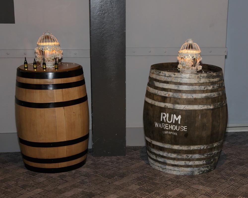 Titanic Hotel Wedding Barrels