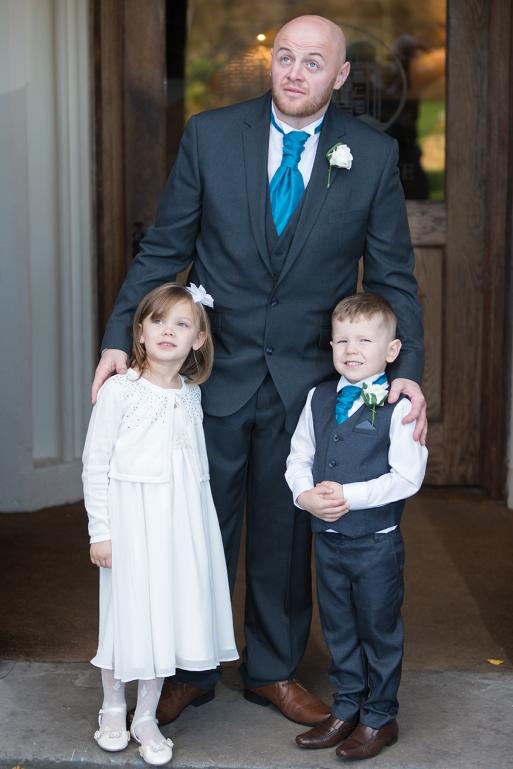 Groom & Kids Leasowe Castle Wedding
