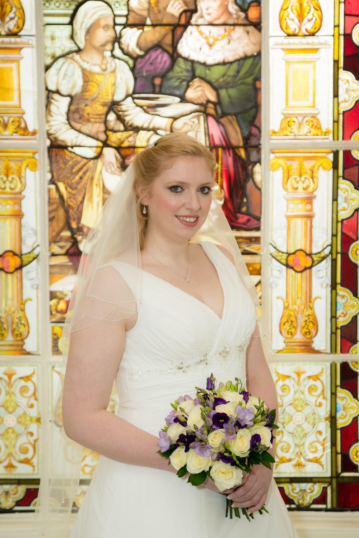 Astley Bank Hotel Bride Stain Glass window