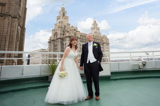 Atlantic Tower Hotel & Liver Buildings Bride & Groom