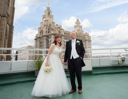 Atlantic Tower Hotel & Liver Buildings Bride & Groom